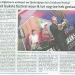 Greidhoek' Festival 2014 in de pers