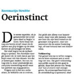 Column: Oerinstinct
