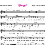 Wy Sjonge: liedje 'Sjonge'